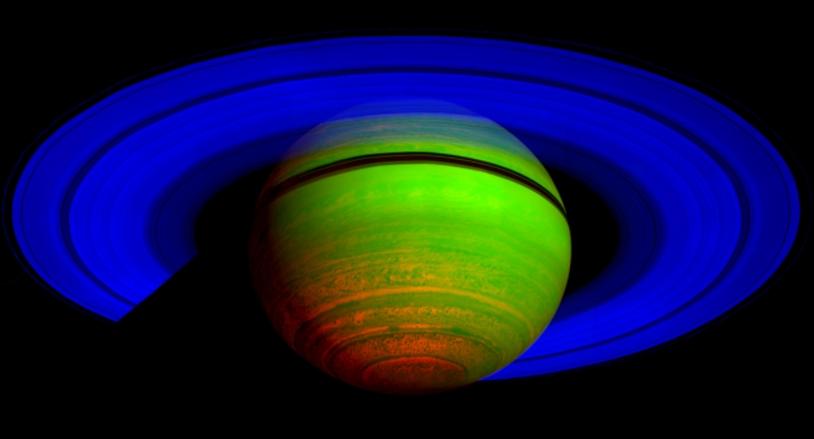 La chaleur de l'hémisphère Sud de Saturne vue par Cassini